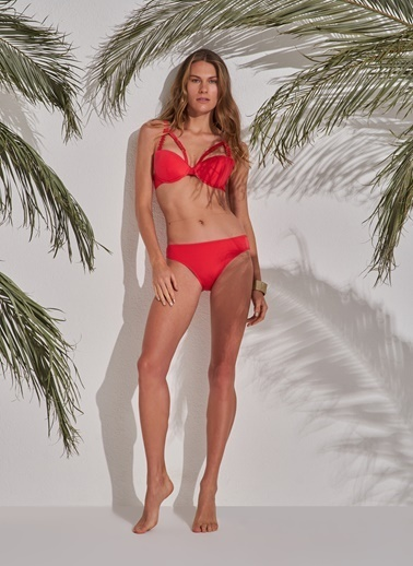 Morhipo Beach Aksesuar Detaylı Dolgulu Bikini Kırmızı
